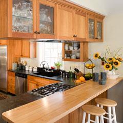 soapstone and butcherblock kitchen countertops