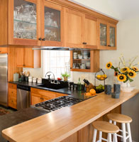 soapstone and butcherblock kitchen countertops